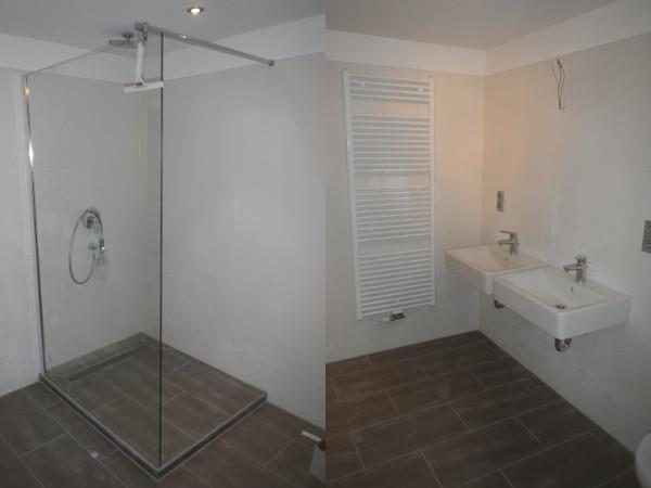 Referenz der Firma E. Miller in Krailling, Würmtal aus dem Jahr 2011 in Stockdorf – Dusche und Waschbecken