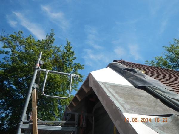 Referenz der Firma E. Miller in Krailling, Würmtal aus dem Jahr 2014 in Gauting – Dacharbeiten