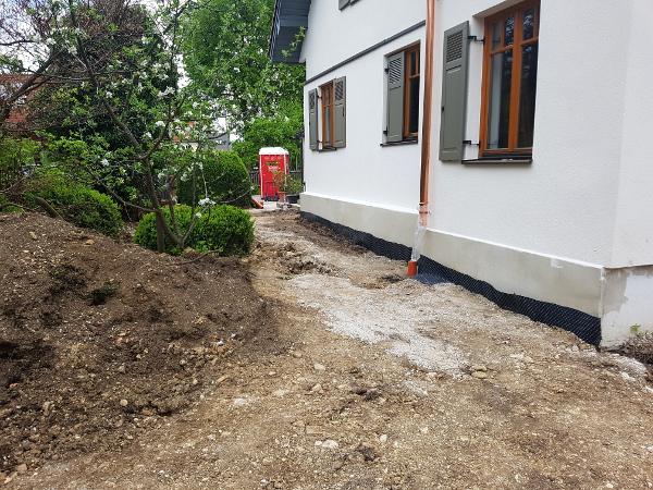 Referenz der Firma E. Miller in Krailling, Würmtal aus dem Jahr 2017 in Gräfelfing – Neugestaltung der Gartenanlage