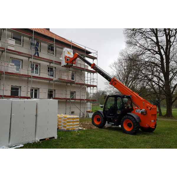 Referenz der Firma E. Miller in Krailling, Würmtal aus dem Jahr 2019 – Fassaden in Gräfelfing – Baugerüst